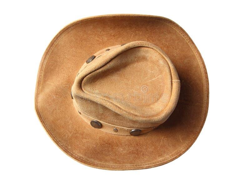 Взгляд сверху шлема ковбоя стоковая фотография rf