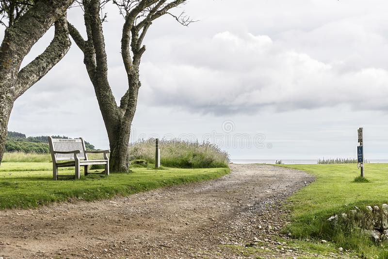 Взгляд сельской местности замка Dunrobin стоковые изображения