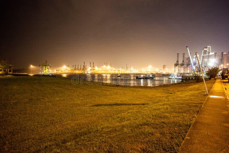 Взгляд Сингапур ночи стоковые фотографии rf