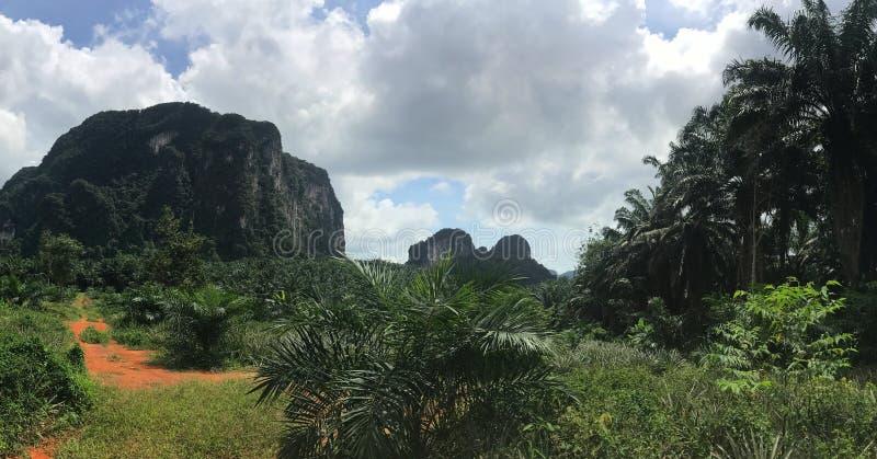 Взгляд скал панорамный стоковое изображение