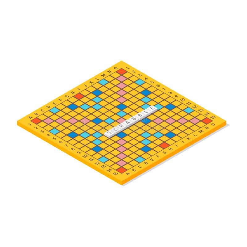 Взгляд слова настольной игры равновеликий вектор иллюстрация вектора