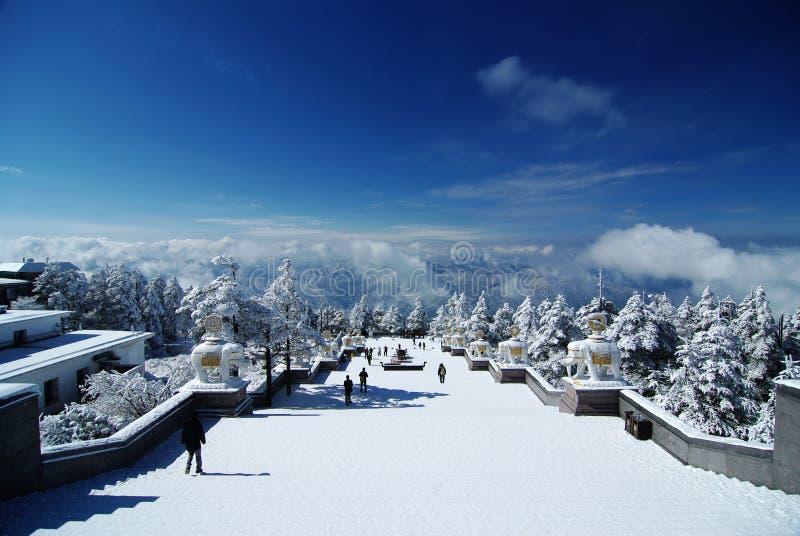 взгляд снежка mt emei стоковые изображения