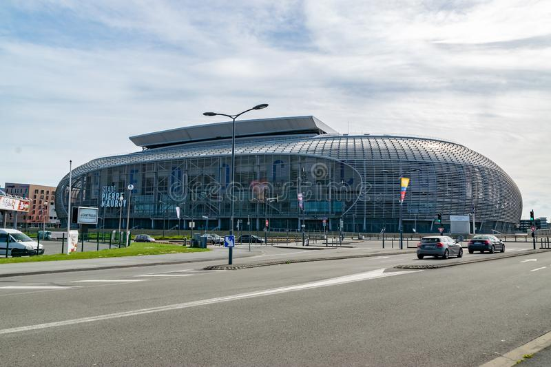 Взгляд современного стадиона клуба футбола Losc стоковое фото