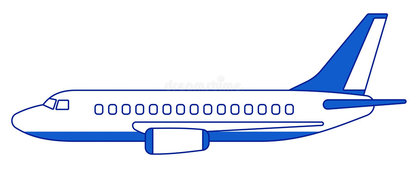 Взгляд со стороны аэроплана бесплатная иллюстрация