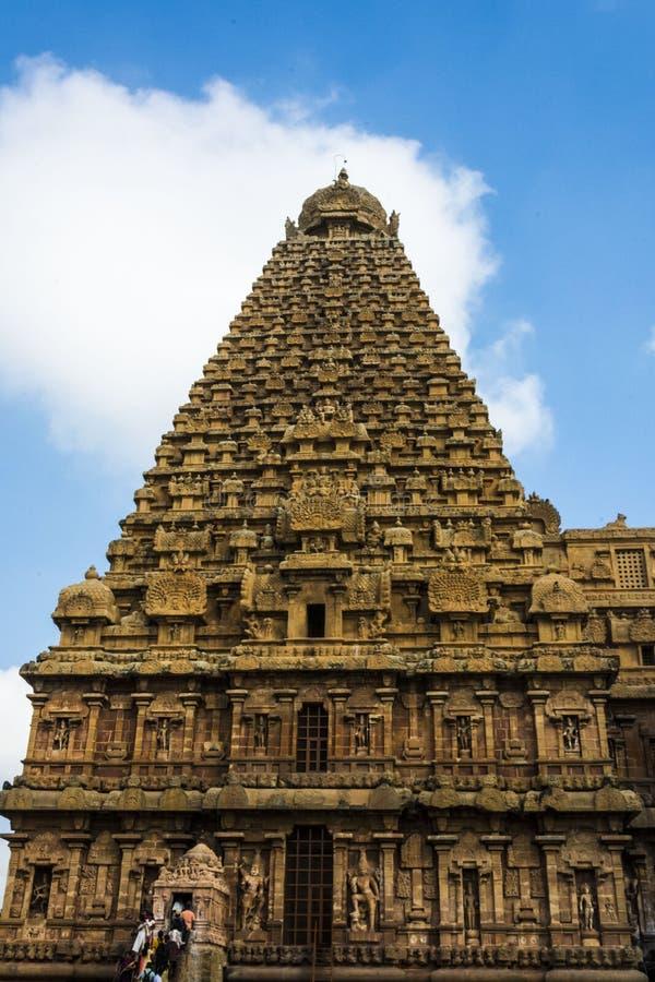 Взгляд со стороны виска Thanjavur большого стоковое фото rf