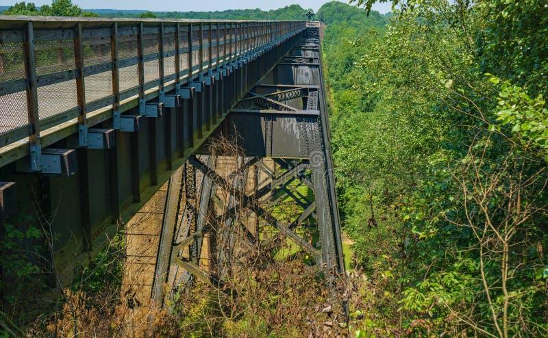 Взгляд со стороны высокого моста на высоком парке штата следа моста стоковые изображения