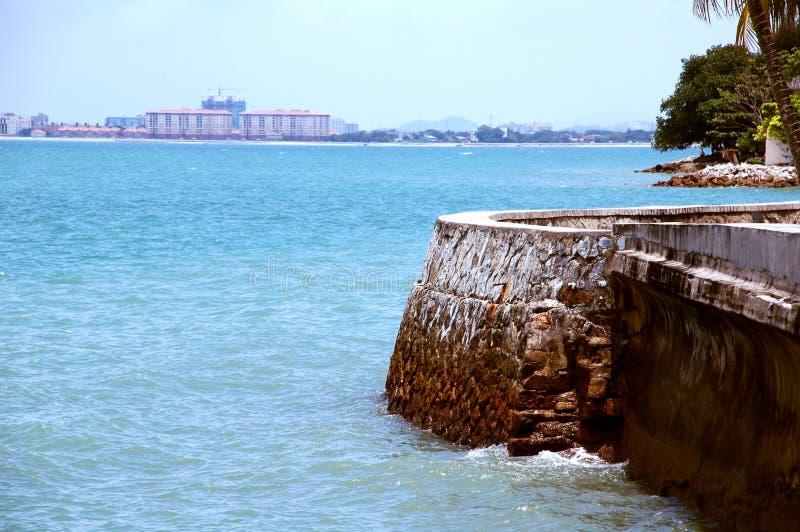 взгляд со стороны моря стоковое фото rf
