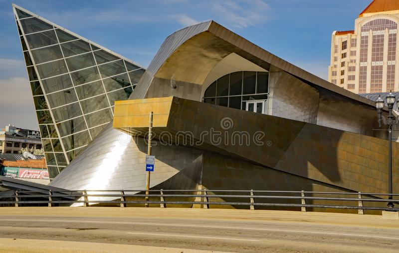 Взгляд со стороны музея изобразительных искусств theTaubman стоковые изображения