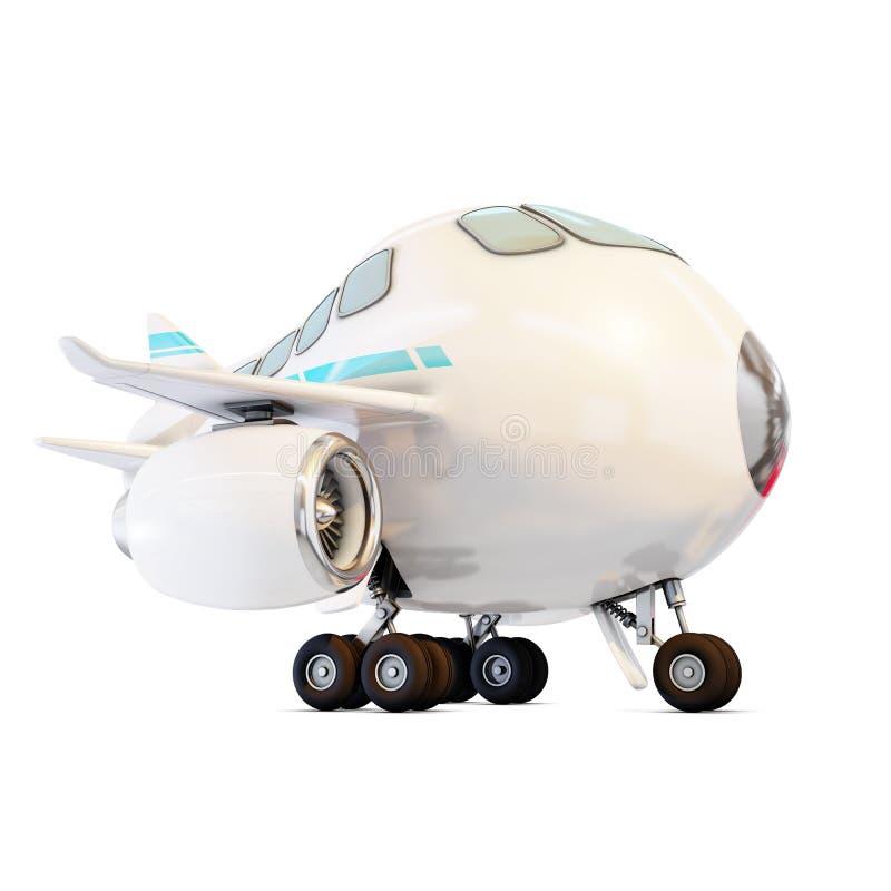 Взгляд со стороны смешного самолета иллюстрация штока