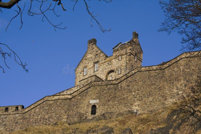 взгляд со стороны edinburgh Шотландии замока стоковая фотография rf