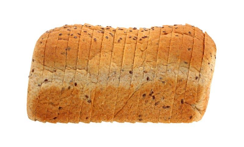 взгляд со стороны flaxseed хлеба стоковое изображение rf
