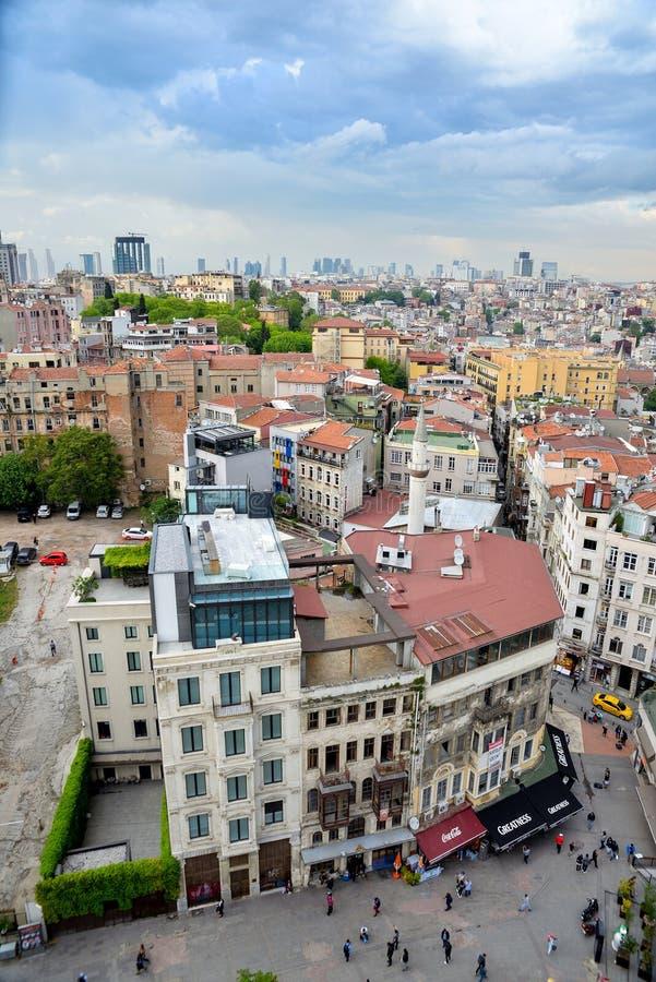 Взгляд Стамбула от aboven стоковые фотографии rf