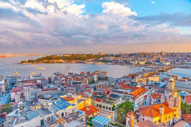 Взгляд Стамбула от aboven стоковые изображения