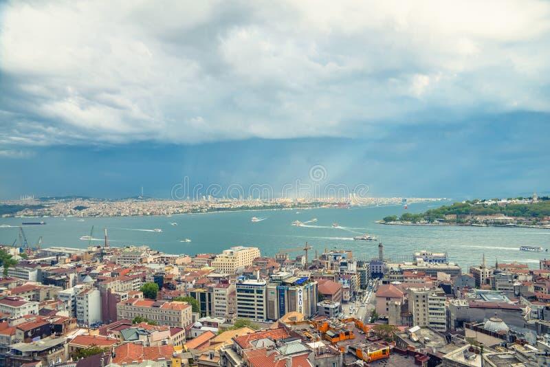 Взгляд Стамбула от abover стоковые изображения