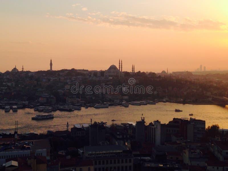 Взгляд Стамбул от башни Galata стоковая фотография rf