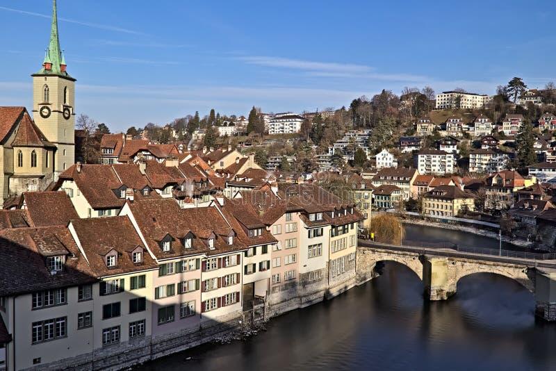 Взгляд старого городка Bern стоковая фотография