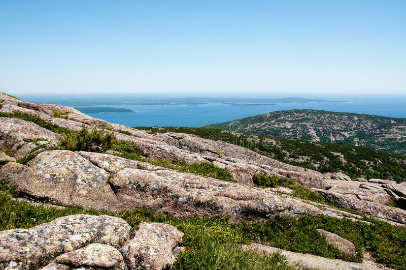 взгляд США национального парка Мейна acadia стоковые фото