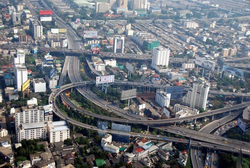 взгляд Таиланда хайвеев города bangkok стоковые изображения rf