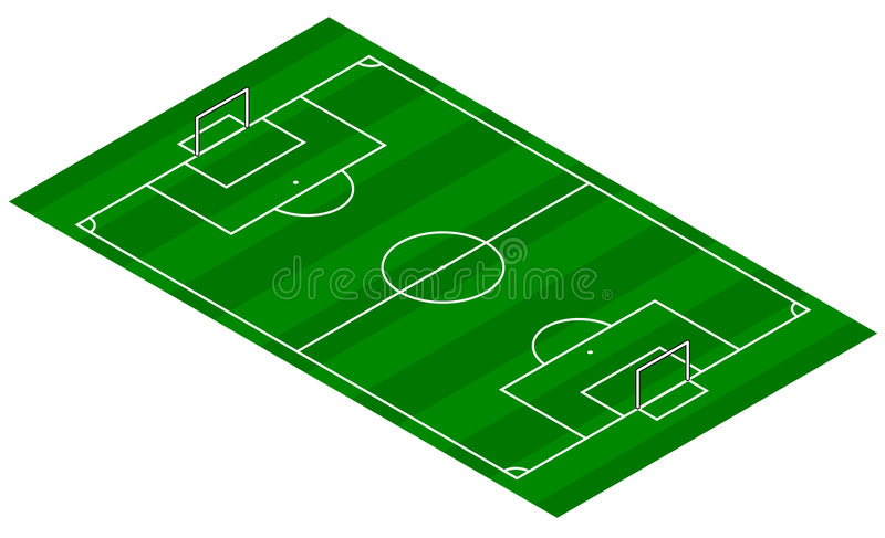 взгляд тангажа футбола равновеликий стоковые изображения
