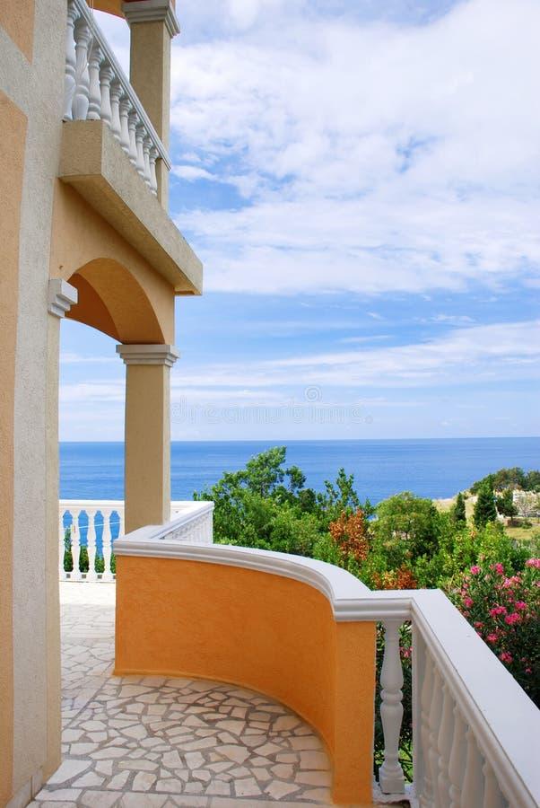 взгляд террасы моря стоковое фото rf