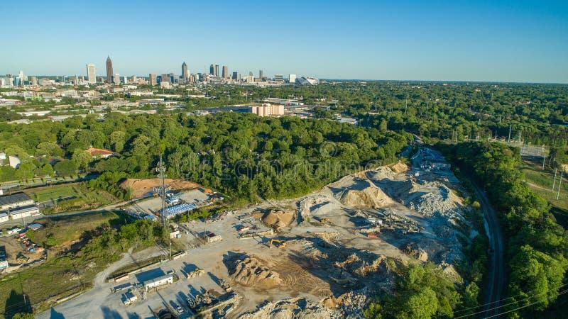 Взгляд трутня Атланта стоковая фотография rf
