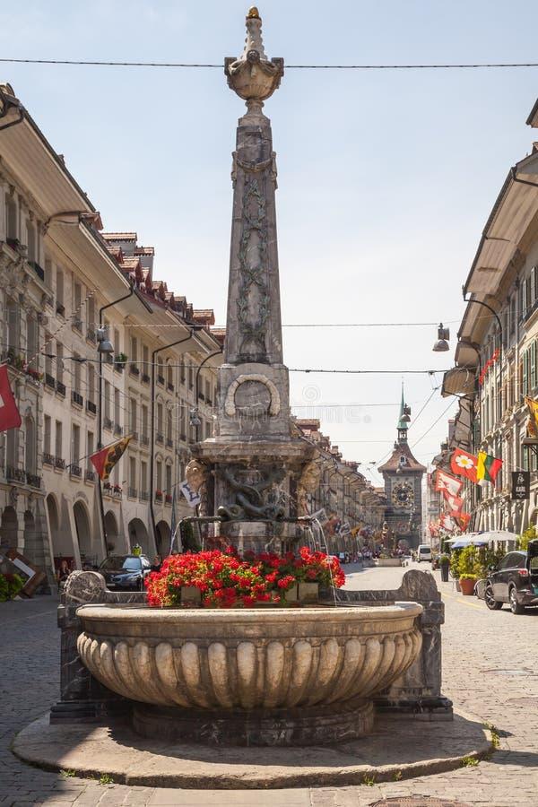 Взгляд улицы в городе Bern стоковые фото