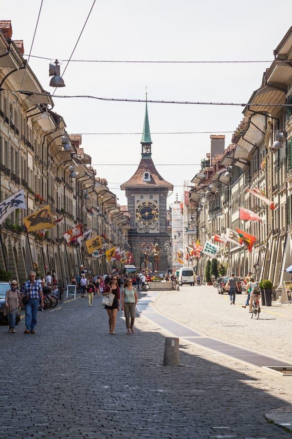Взгляд улицы в городе Bern стоковая фотография