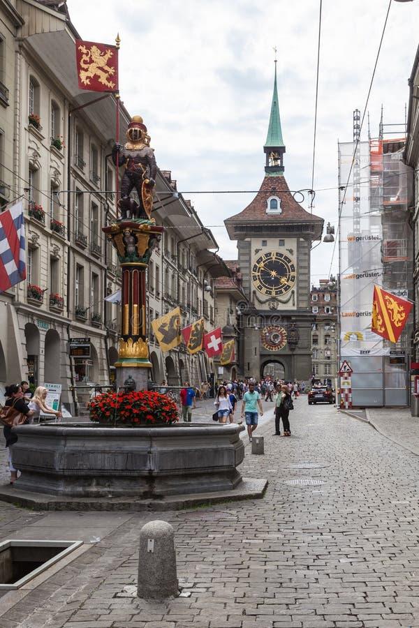 Взгляд улицы в городе Bern стоковые изображения rf