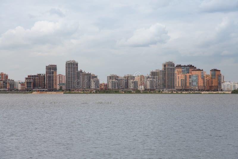 Взгляд улицы в Российская Федерация Казани, Татарстане стоковая фотография rf