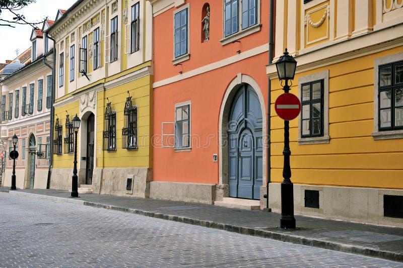 Взгляд улицы в центре города Будапешта стоковые изображения