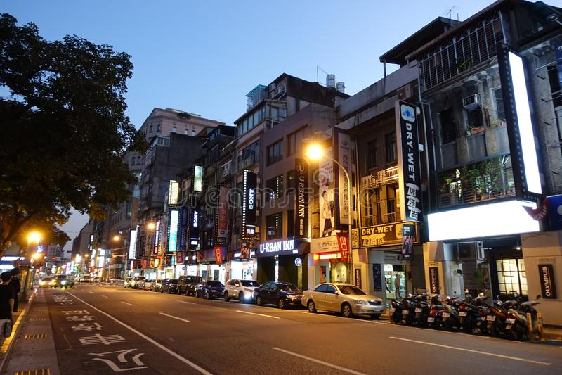 Взгляд улицы в Kaohsiung стоковое изображение rf