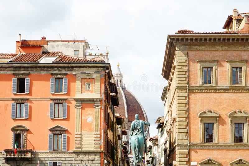 Взгляд улицы Италии Флоренса Firenze винтажный стоковое фото rf