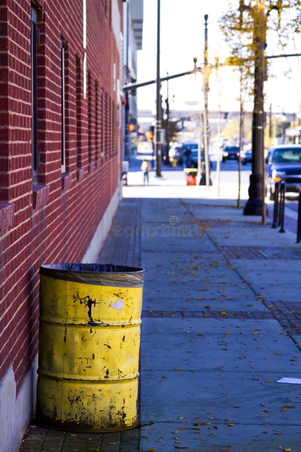 взгляд улицы соли озера города стоковая фотография