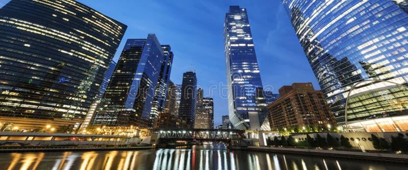 взгляд утра chicago стоковые фото