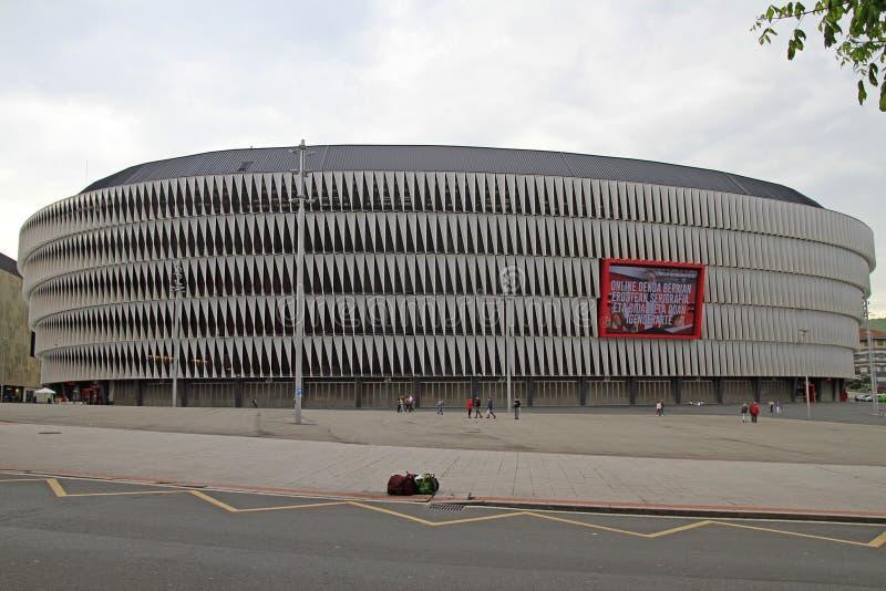 Взгляд футбольного стадиона Сан Mames в Бильбао стоковое фото