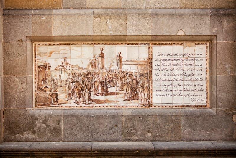 Взгляд художественного произведения на керамических плитках стоковое изображение rf