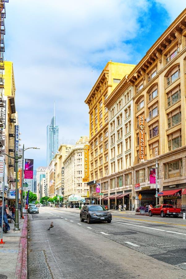 Взгляд центра города Лос Ангелоса, в дневном времени стоковые фото