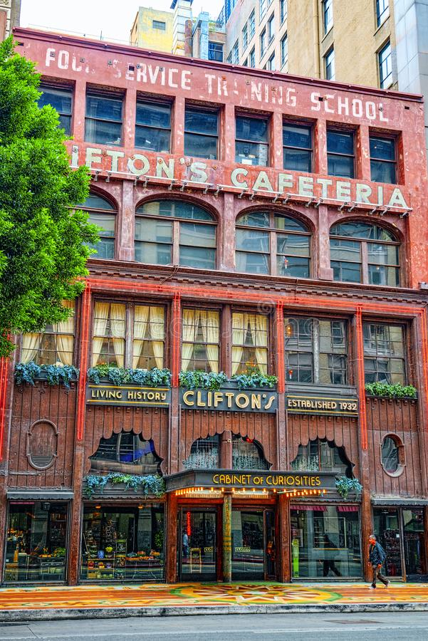 Взгляд центра города Лос Ангелоса, в дневном времени стоковая фотография