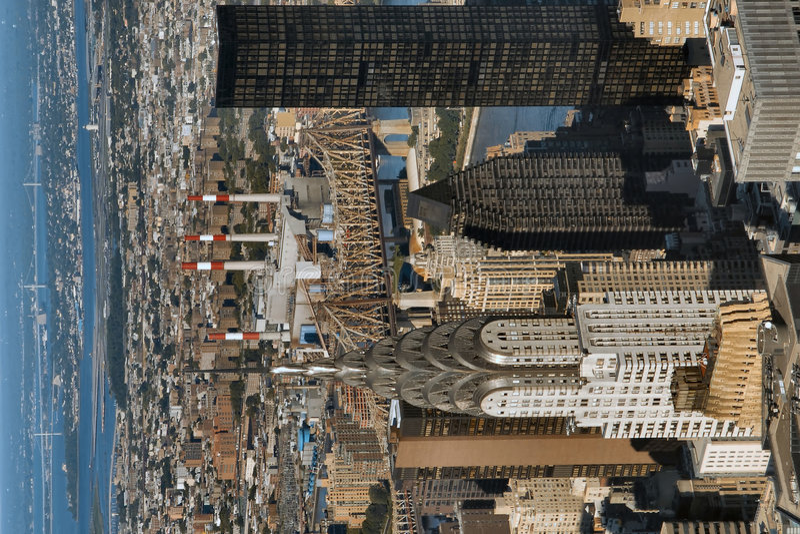 взгляд центра города manhattan стоковое изображение rf
