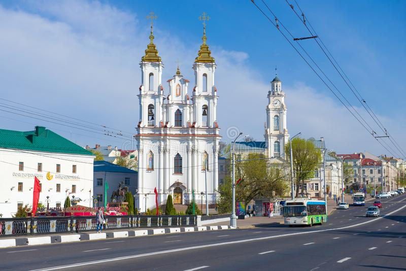 Взгляд церков воскресения Христос Беларуси, Витебска стоковая фотография rf