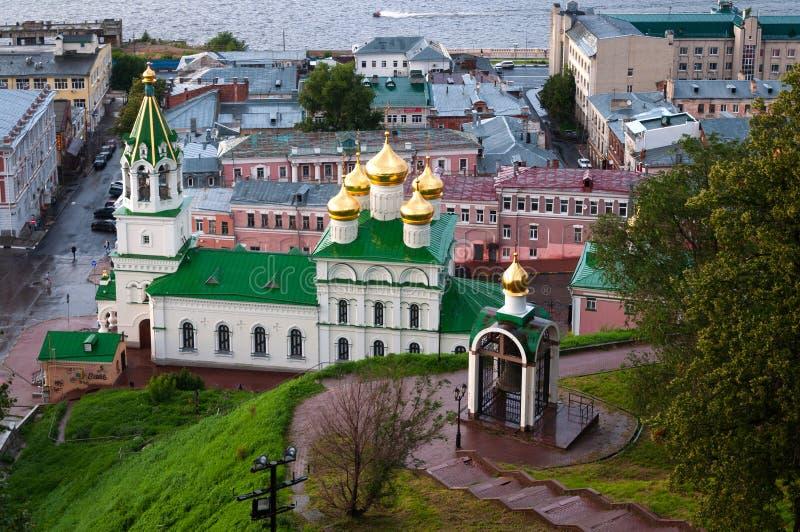 Взгляд церков рождества Джона прекурсор в Nizhny Novgorod Россия стоковое изображение rf