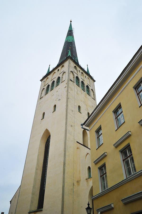 Взгляд церков St Olaf в Таллине стоковые фото