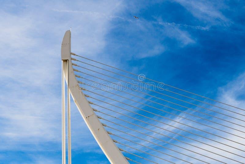 Взгляд частности моста в Валенсии стоковая фотография rf