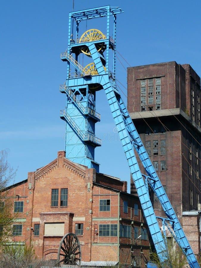 Взгляд-шахта Bytom Szombierki-промышленная, Силезия, Польша стоковое фото rf