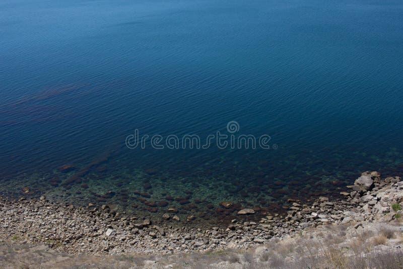 Взгляд штиля на море от накидки стоковые изображения rf