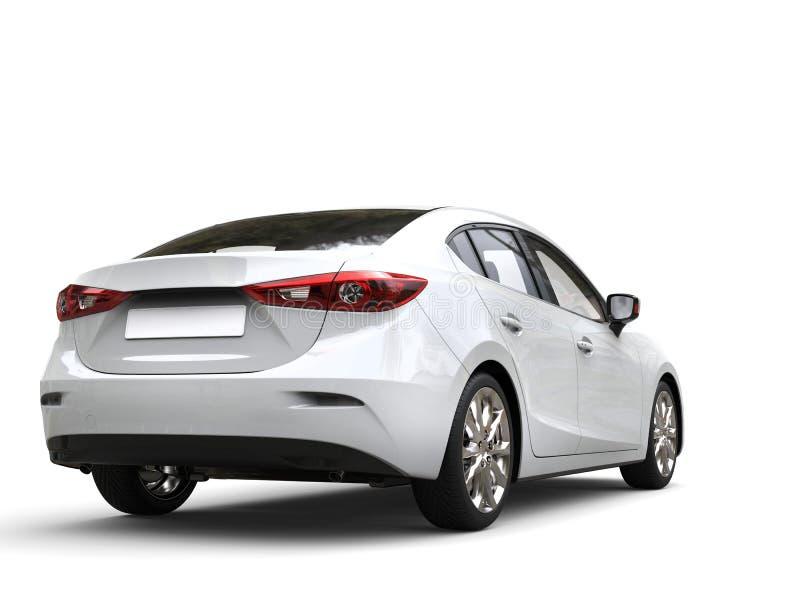 Взгляд ясного белого современного быстрого дела автомобильный задний иллюстрация вектора
