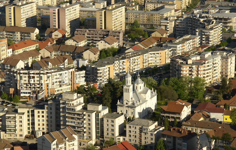 взгляд 2 городов общий стоковые фотографии rf