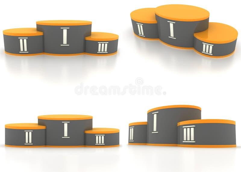 взгляд 4 постаментов иллюстрация вектора