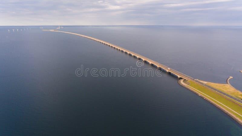 Взгляд Aerrial моста Korsor стоковые фото