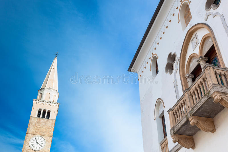 Взгляд al Tagliamento San Vito стоковые изображения